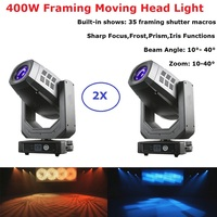 Beam Spot Zoom Framing 4IN1 LED Moving Head Light 400W RGBW Colors Framing Moving Head For Stage Wedding Outdoor Light Dj Effect
