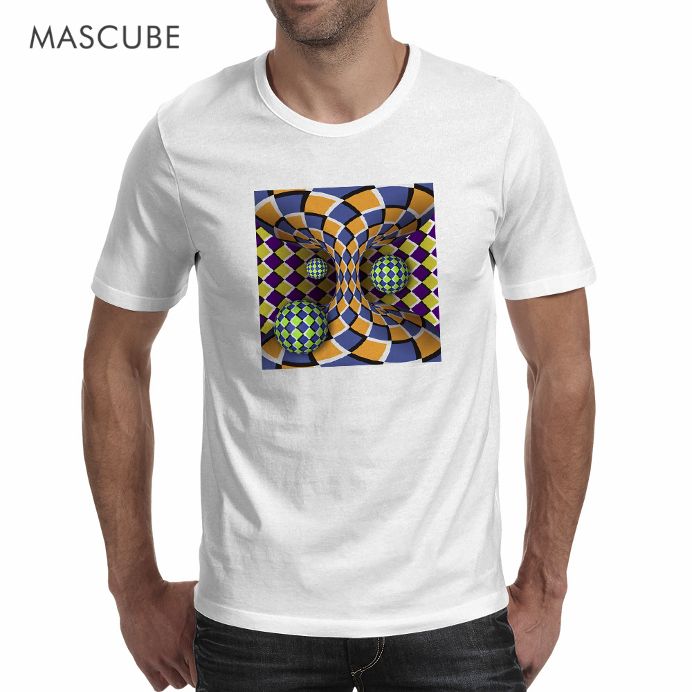 Design t shirt company - Mascube 2017 New Arrival Crazy Visual Enjoyment 3d Pattern Short Sleeve White Novelty T Shirt Cozy Cool Fashion