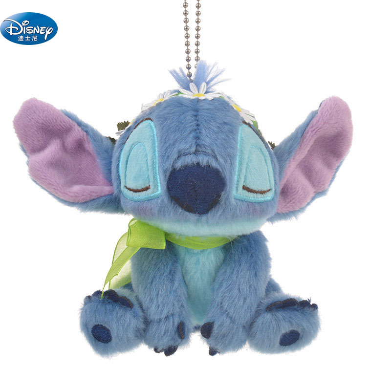 10 cm/20 CM cute Lilo and Stitch plush toys disney Keychain Pendant with Flower Toys Kids Birthday soft Wedding Gift wholesale 100pcs cute panda doll plush toys bag purse keychain pendant birthday christmas wedding party small gift triver toy