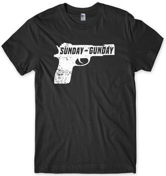 2019 Summer Hot Sale Cotton Good Quality Brand Cotton Summer Style Cool T-Shirt Sunday Gunday Pistol Men Funny Unisex T-Shirt
