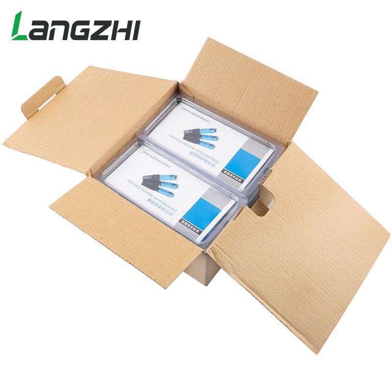 Langzhi 100 pièces SC Optique fibre Rapide Froid FTTH SC Monomode UPC Connecteur Rapide - 3