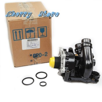 NEW 06H 121 026 CQ Engine Water Pump Thermostat Assembly For VW Passat Golf CC Tiguan Jetta Audi A4 A5 A6 Q5 2.0TSI 06H121026AB