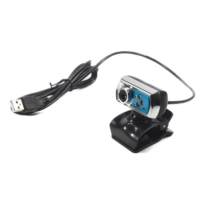 12 MP Webcam HD High-definition 3 LED Webcam USB Camera with Mic  Night Vision for PC Computer Peripherals Blue 4