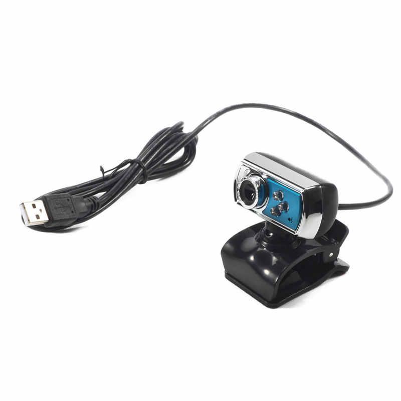 العالمي 12 MP كاميرا HD عالية الوضوح 3 LED كاميرا كاميرا بـ USB مع Mic للرؤية الليلية ل جهاز كمبيوتر شخصي ملحقات الأزرق جديد