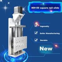 New KR150 Square Rail Slide Linear Slide Module Single Axis Sliding Working Table Guide Slides Stroke 200mm +Motor Frame