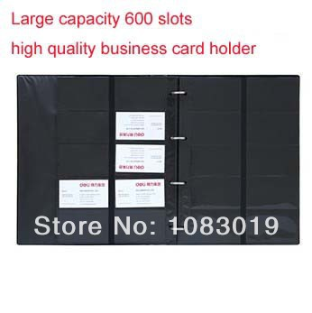 high quality brand Leather 600 Cards Business Name ID Credit Card Holder Book Case Keeper Organizer 5798 freeshipping fashion solid pu leather credit card holder slim wallet men luxury brand design business card organizer id holder case no zipper