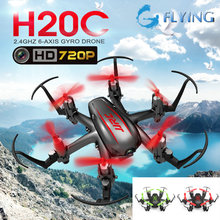 JJRC H20C Mini Drone with 2.0MP Camera H20 Upgrade RTF 2.4G 4CH 6 Axle Gyro RC Hexacopter Headless Auto-Return F16759/60