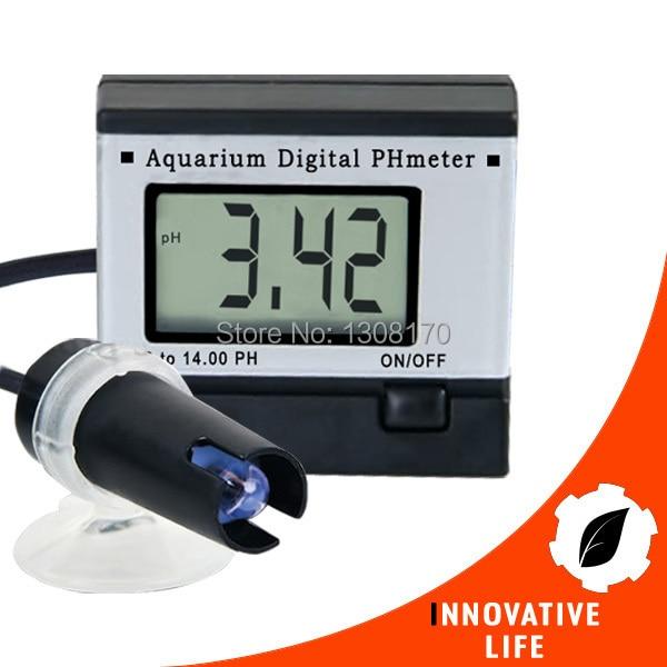 Mini Digital pH Meter Hydroponics Aquarium with 1M 1Meter Fixed Cable 0.00~14.00pH + 2 Buffer solutions Monitor Tester free shipping mini ph meter monitor aquarium