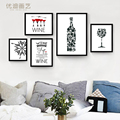 The sitting room adornment simple modern black and white combination Bar Cafe mural paintings character Poster