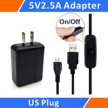 Best Buy Raspberry Pi 3 5V 2.5A Power Supply / Adapter / Charger and Micro USB Cable with ON / OFF Switch kit  (US)