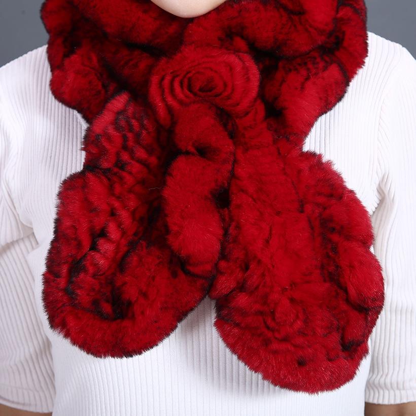 Sombreros y bufandas para mujer Piel de rex genuina Sombrero de flor - Accesorios para la ropa - foto 4