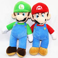 2 pcs/Lot 10'' 25cm SuperMario Super Mario Bros Brothers Stand Mario Brother Soft Plush Doll Stuffed Toys Gift For Children