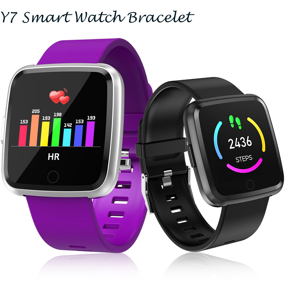 Timethinker Y7 Waterproof Smart Watch Blood Pressure Heart Rate Monitor Fitness Tracker Reloj Deportivo Smartwatch For Men Women