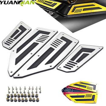 цена на for Yamaha T-max 530 Motorcycle CNC Aluminum Front and Rear Footrest Plate Footboard Steps Scooter Accessories Tmax T-MAX 530