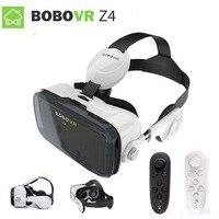 2017 תיבת 2 מציאות מדומה VR vr z4 בובו XiaoZhai משקפיים 3D VR אוזניות אוזניות סרט עבור Google cardboad Bluetooth בקר