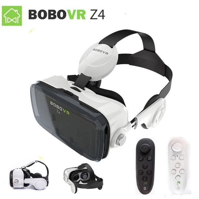 XiaoZhai bobo vr z4 VR коробка 2 виртуальной реальности 3D очки VR гарнитура наушники фильм для Google cardboad контроллер Bluetooth