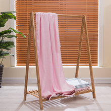 Bamboo Fiber Solid Bath Towel Beach Towel For Adults Fast Drying Soft 4 Colors 70*140cm Thick High Absorbent Antibacterial fast drying soft microfiber bath towel beach towel 70 140 cartoon cute bear head baby towel high absorbent household two wear