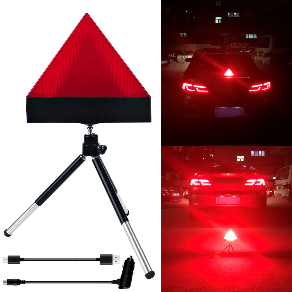 Wireless Auto Car flash Caution Warning Lights Safety Emergency Triangle 12V LED Beacon  ...