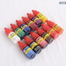 Вспышка Чернила светочувствительное масло для печати штамп 10 мл 12 цветов на масляной основе