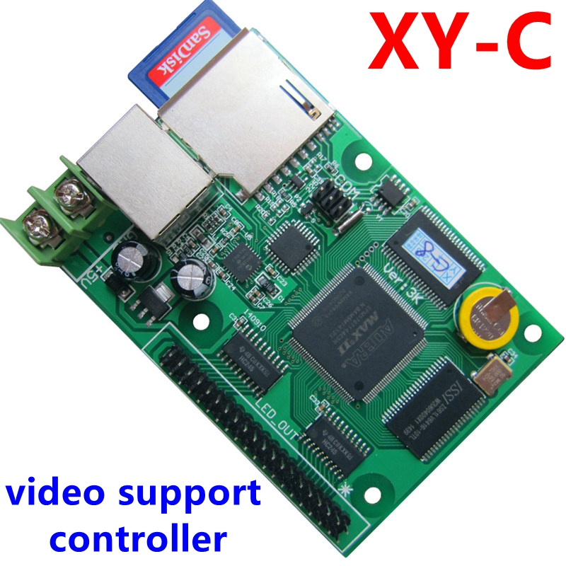 XY-C SD asynchronous + network synchronous full color video led control card 320*128,256*160pixels for rgb display module diy kits p10 led display outdoor full color 20pcs 32 16pixel 320 160mm rgb module 5v 40a power supply 4pcs 1pcs control card