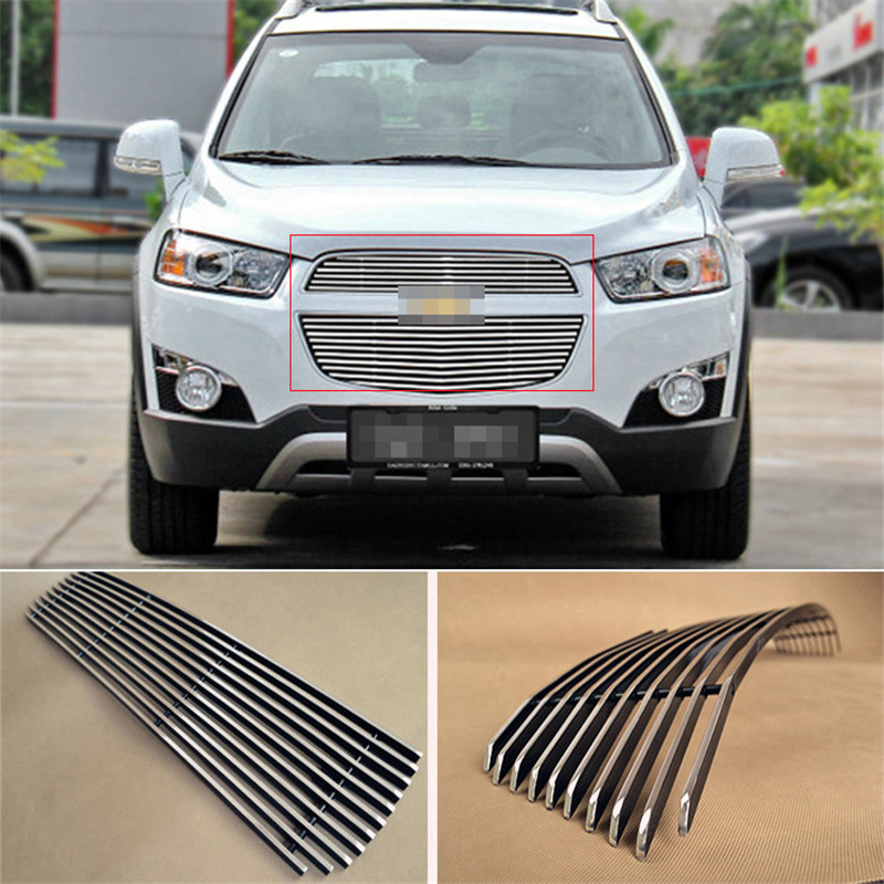 Savanini Brand New Aluminium Front Center Racing Grills Billet Grille Cover For Chevrolet Captiva 2012-2015