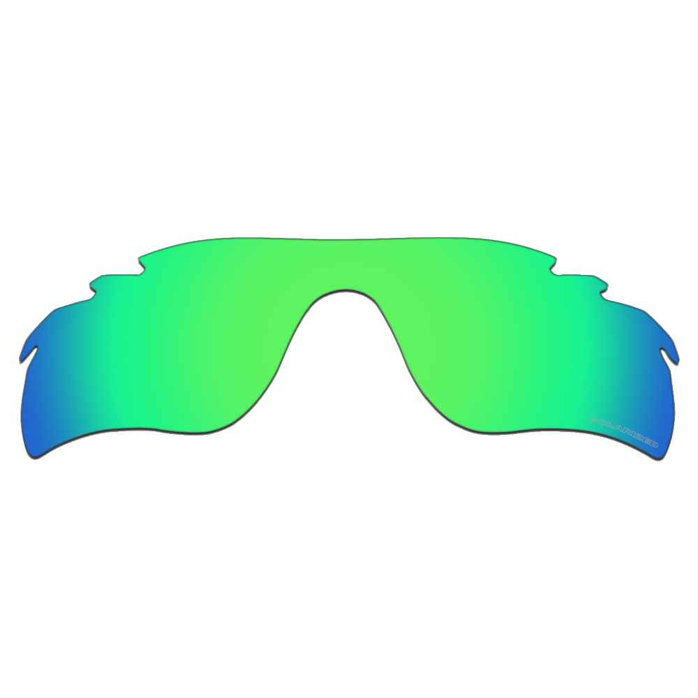 HKUCO Plus Mens Replacement Lenses For Oakley Radar Path-Vented Sunglasses Emerald Green Polarized CYYXIQ9