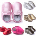 Baby Toddler First Walkers 2016 Warm Soft Sole Tassel Leather Baby Shoes Baby Girl Indoor Floor Slippers/Shoes 0-18 Month