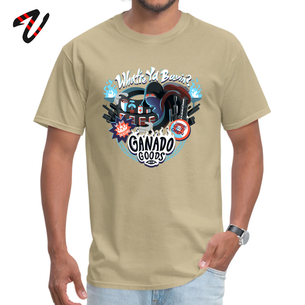 Men's Top T-shirts Ganado Goods Funny Tops Tees All Cotton O-Neck Short Sleeve Summer Tee-Shirt Mother Day Drop Shipping Ganado Goods15938 beige