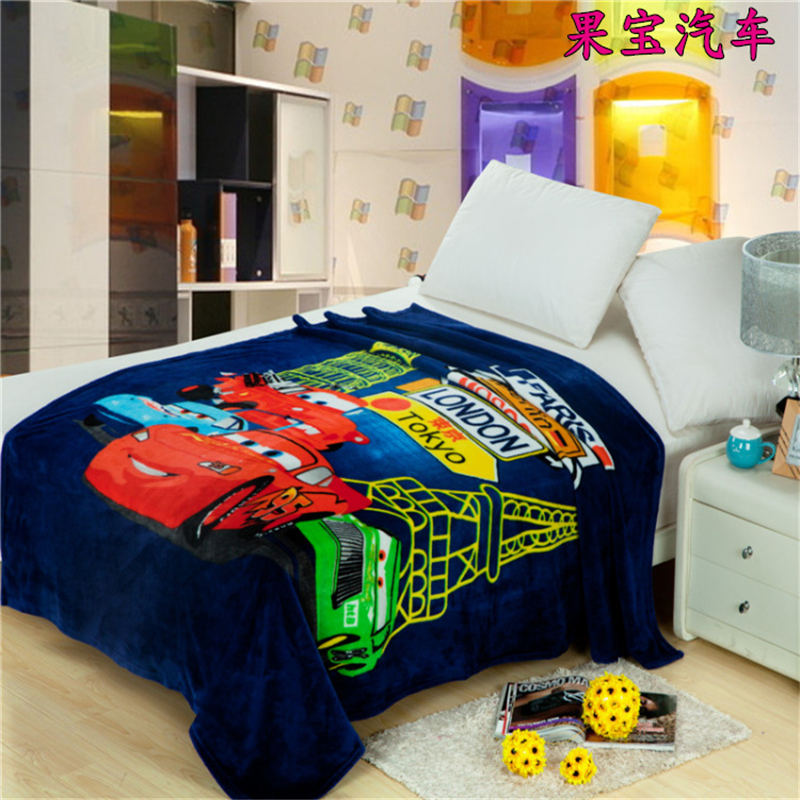 Complete Flannel single sheet of cars single