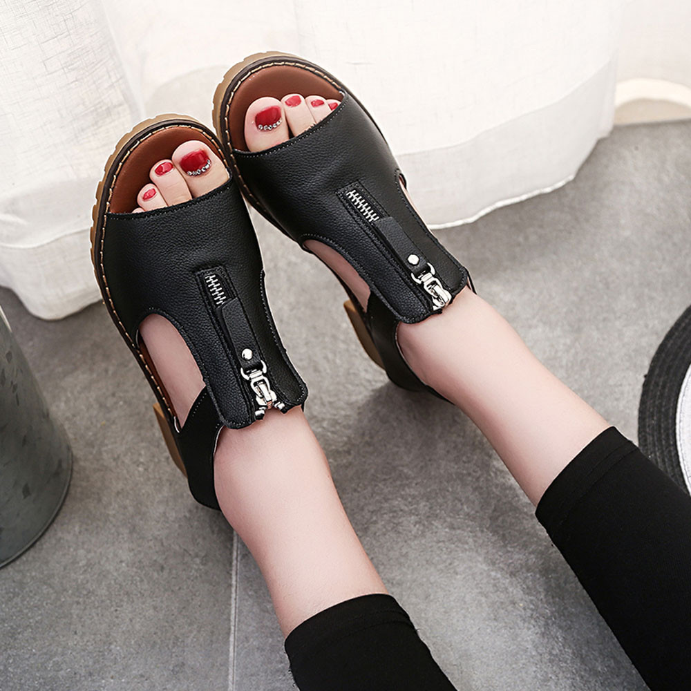 2017 New Fashion Design Women Summer Rome Wedges Sandals Shoes Female Casual Soft Peep-Toe Girls Beach Gladiator Sandals Mar8 phyanic 2017 gladiator sandals gold silver shoes woman summer platform wedges glitters creepers casual women shoes phy3323
