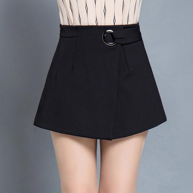 2016 Venta Caliente de la Mujer Shorts Faldas Nuevo Otoño y El Invierno Asimetría Femenina Corto Feminino Cortocircuitos Rectos Ocasionales Más El Tamaño