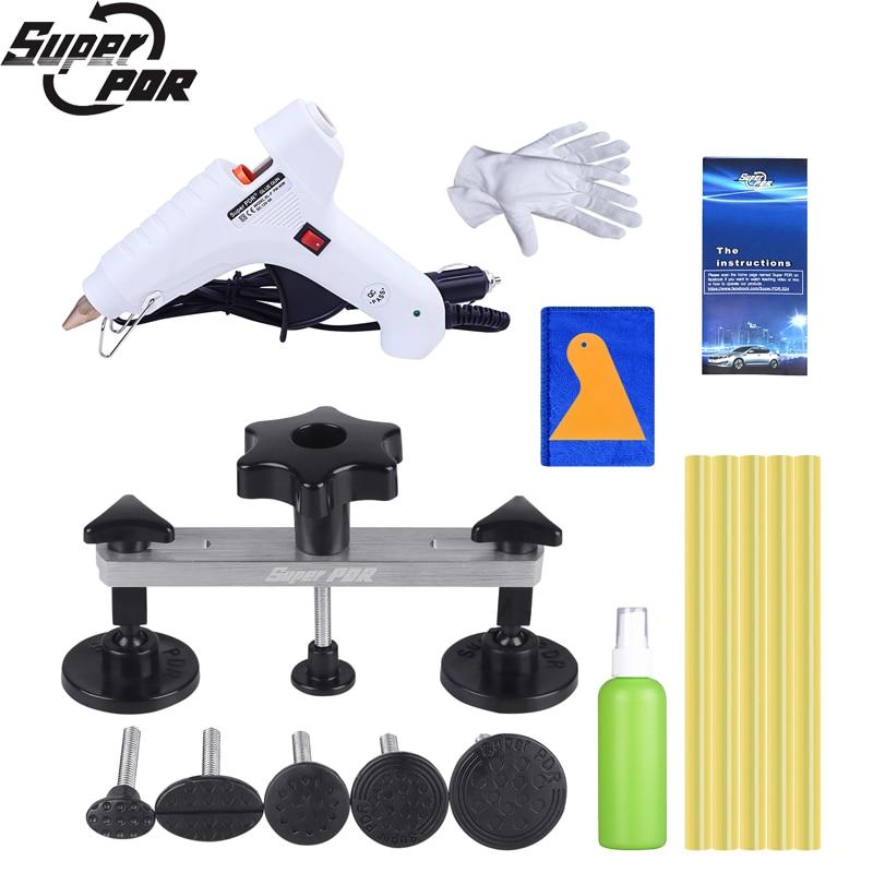 Super PDR 12V Hot Melt Glue Gun For Hot Adhesive Glue Sticks Paintless Dent Removal Tools Kit Dent Pulling Bridge Hand Tool Sets