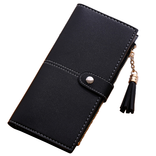 New Women Wallets Hasp Lady Purses Handbags Woman Clutch Tassel Zipper Coin Purse Pocket Cards ID Holder Pouch Wallet Money Bags fashion women coin purses dots design mini girl wallet triple zipper clutch bag card case small lady bags phone pouch purse new