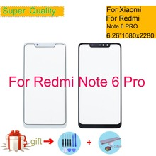 Original For Xiaomi Redmi Note Note 6 PRO 6Pro Touch Screen Panel Front Outer Glass Lens Touchscreen NO LCD Without Digitizer original for xiaomi redmi note note 6 pro 6pro touch screen panel front outer glass lens touchscreen no lcd without digitizer