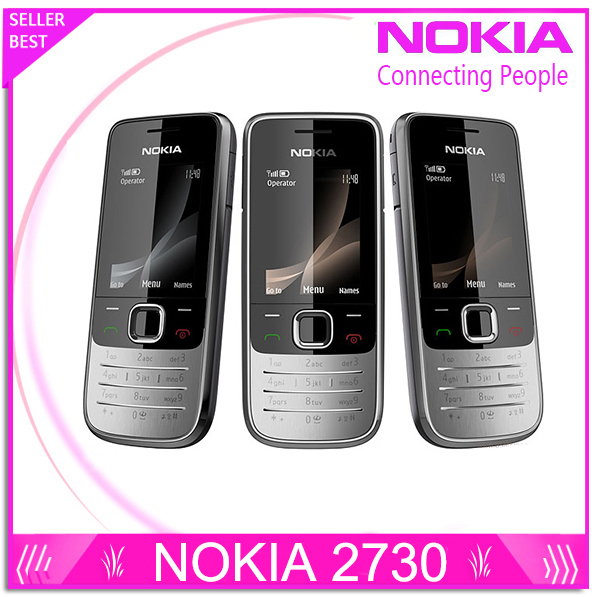 Refurbished Nokia 2730 classic Unlocked Mobile Phone 2730c Cheap 3G Phone Quad Band 2MP Camera 1