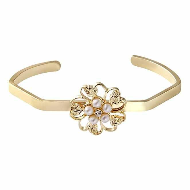 2017 יוקרה הגעה לניו נחושת פרחי שרוול אופנה צמיד יפה צמיד פשוט צמיד אוסטרי קריסטל מתנת אישה
