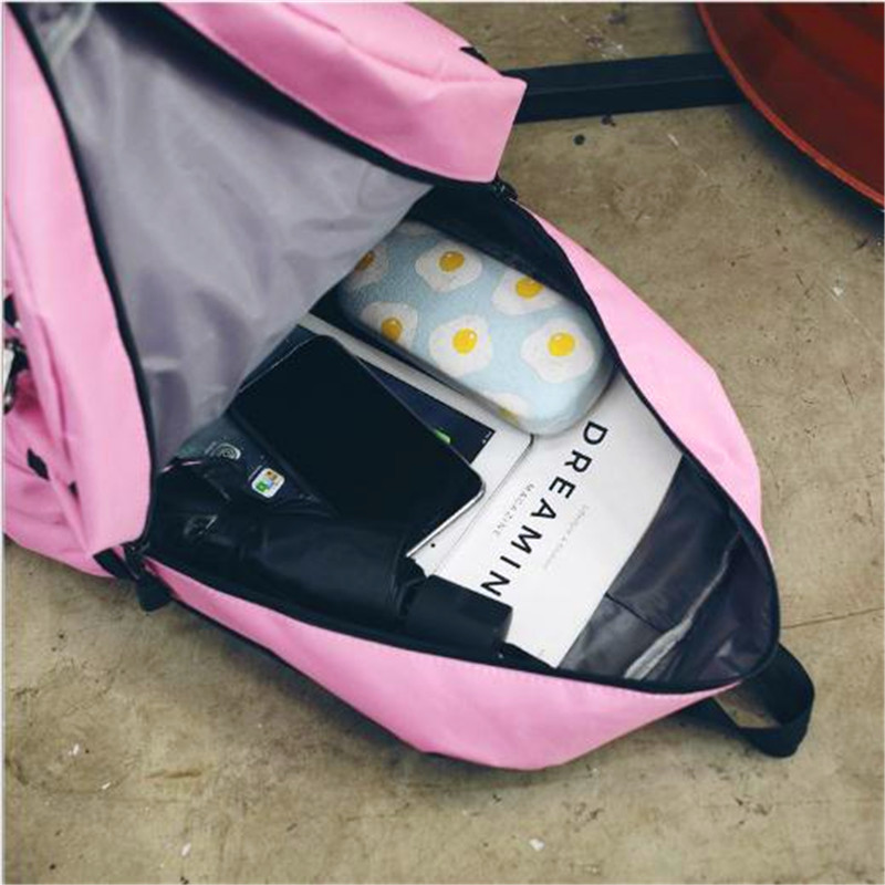 2018 Women Backpack High Capacity Canvas Sweethearts Backpack University High Students Schoolbag laptop bag Travel Shoulderbag in Backpacks from Luggage Bags