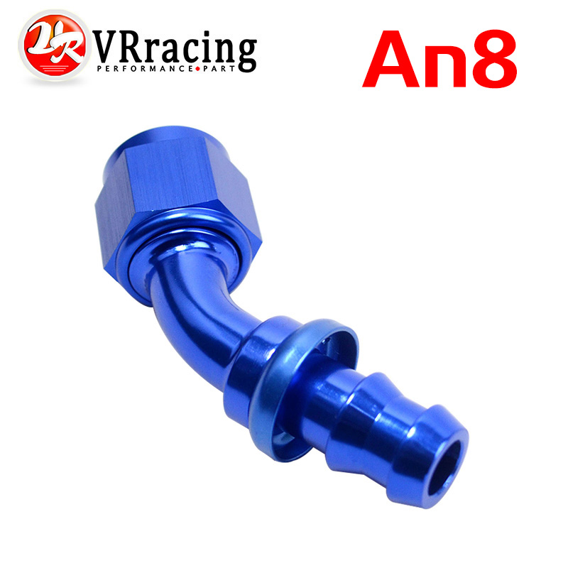 An8 8an An Have An Inquiring Mind Vr Racing 8 45 Degree Push On Lock Socketless Hose End Fitting Adapter Vr-sl2045-08-011