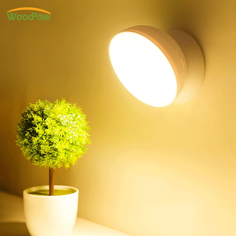 WoodPow USB Rechargeable Light Motion Sensor Activated Wall Light Night Light Induction Lamp For Closet Corridor Cabinet StairsWoodPow USB Rechargeable Light Motion Sensor Activated Wall Light Night Light Induction Lamp For Closet Corridor Cabinet Stairs