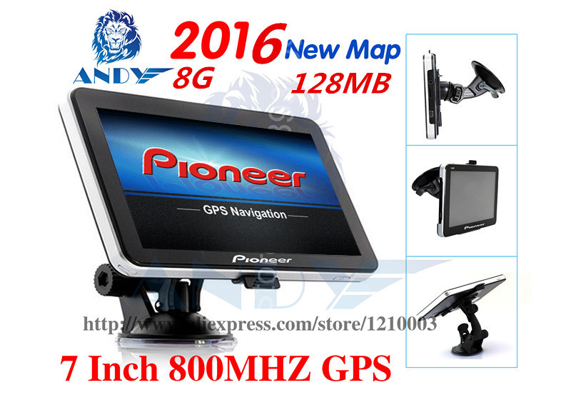 7 inch HD screen Vehicle GPS Navigation 800M/FM/8GB/128MB newest Map For Russia/Belarus/Europe/USA truck MTK CE6.0 Navigator