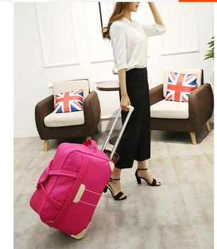 Bolsa de viaje con ruedas para mujer, con ruedas, de 20 pulgadas, 22 pulgadas, para equipaje de viaje, con ruedas, Maleta de viaje, bolsa para equipaje