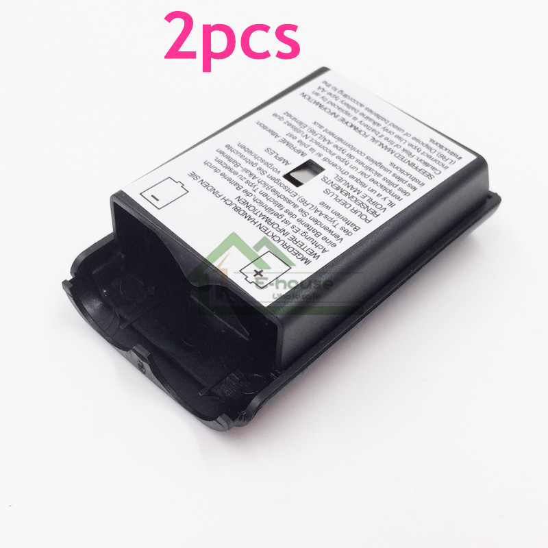 2pcs for Xbox 360 Battery Case Wireless Controller Rechargeable Battery Cover For Xbox 360 Controller With Sticker 1