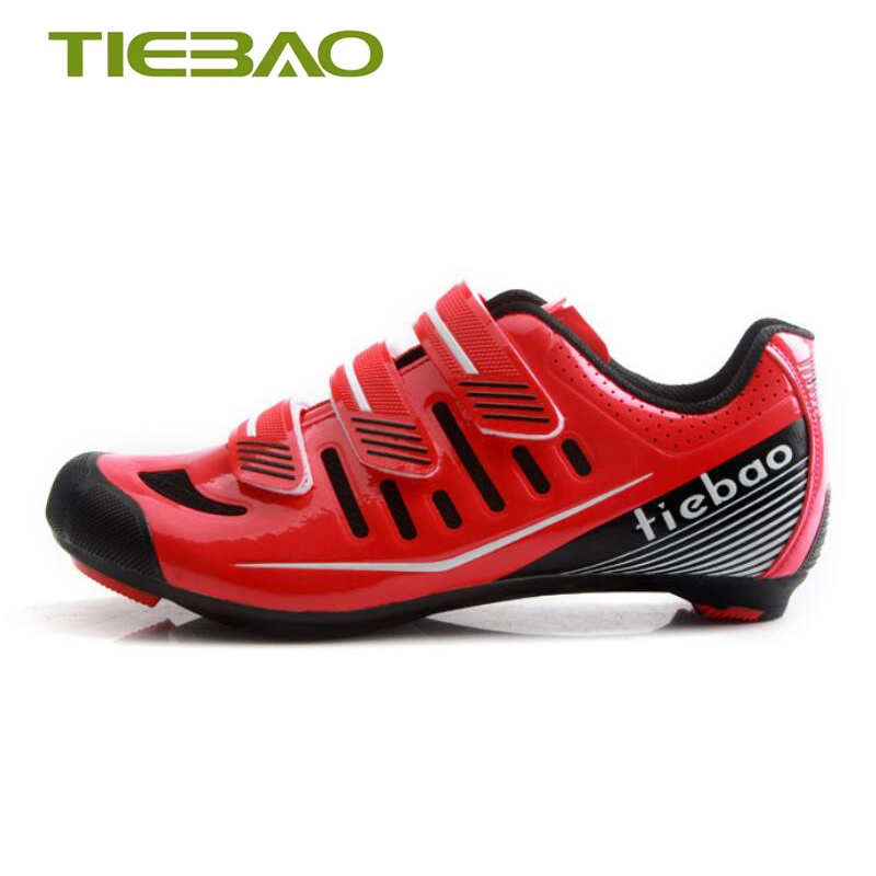 Купить с кэшбэком Tiebao sapatilha ciclismo cycling shoes road men self-locking spnning breathable bicicleta outdoor SPD-SL Road bike riding shoes