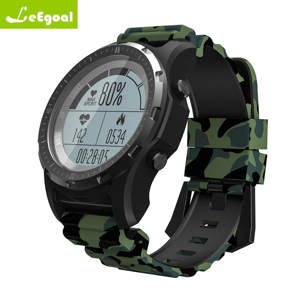 leego S966 Men GPS Hiking Smart Watch Dynamic Heart Rate Monitor Multi sport Tracker Support Temperature Air Pressure Altitude
