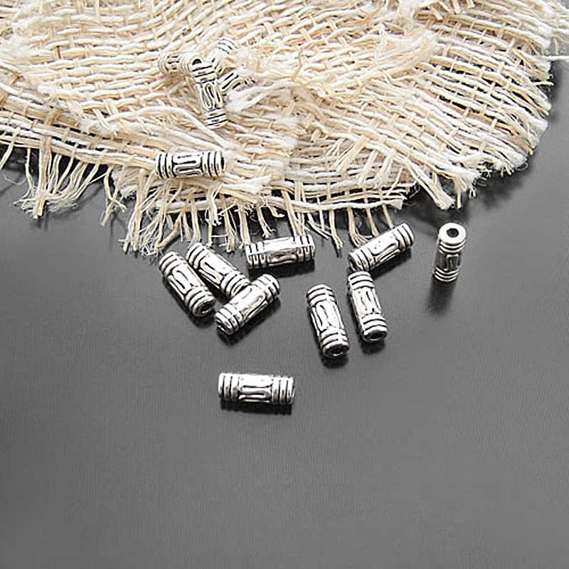 (2617-2) separador de cilindro de aleación de Zinc y plata antigua de 100 Uds. 6x3MM cuentas accesorios de joyería
