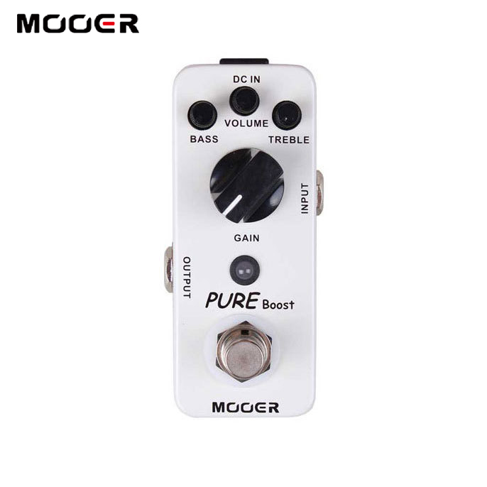NEW Effect Guitar Pedal MOOER Pure Boost Pedal True bypass Full metal shell feee shipping new effect pedal mooer flex boost pedal full metal shell true bypass