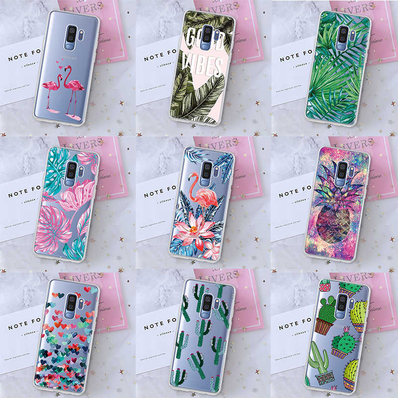Silicon Phone Case For Samsung Galaxy S9 S8 A8 Plus 2018 J4 J6 2018 S7 Edge Note 8 9 Cases For Samsung S9 S8 Love Pattern Cover