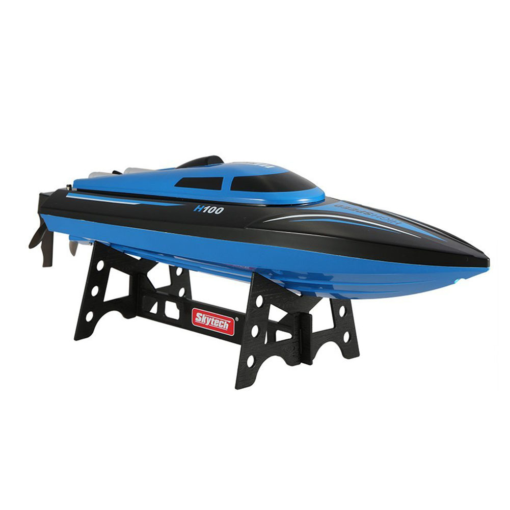 ABWE Best Sale Skytech H100 2.4G RC Boat Remote Controlled 180 Degree Flip 26-28KM/H High Speed Electric Submarine Racing RC B high quality high speed rc boat 13000 6ch mini radio control simulation series rc nuclear racing submarine model kids best gifts