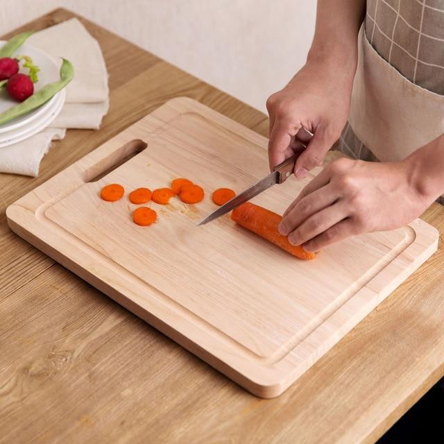 Aliexpress.com : Acquista Tagliere di legno di gomma da cucina per ...
