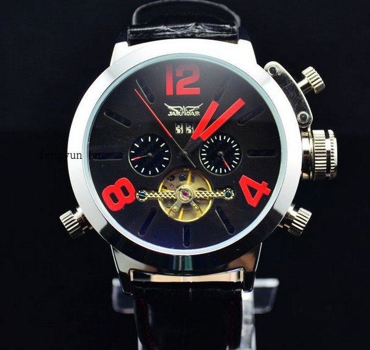 JARGAR Outside The Single Authentic European and American Business Big Dial Men Automatic Tourbillon Mechanical Watch J225 одежда для отдыха european and american big pm110 2015